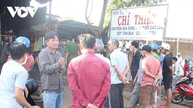 Lốp ô tô phát nổ, chủ gara ở Bình Phước tử vong tại chỗ ảnh 1