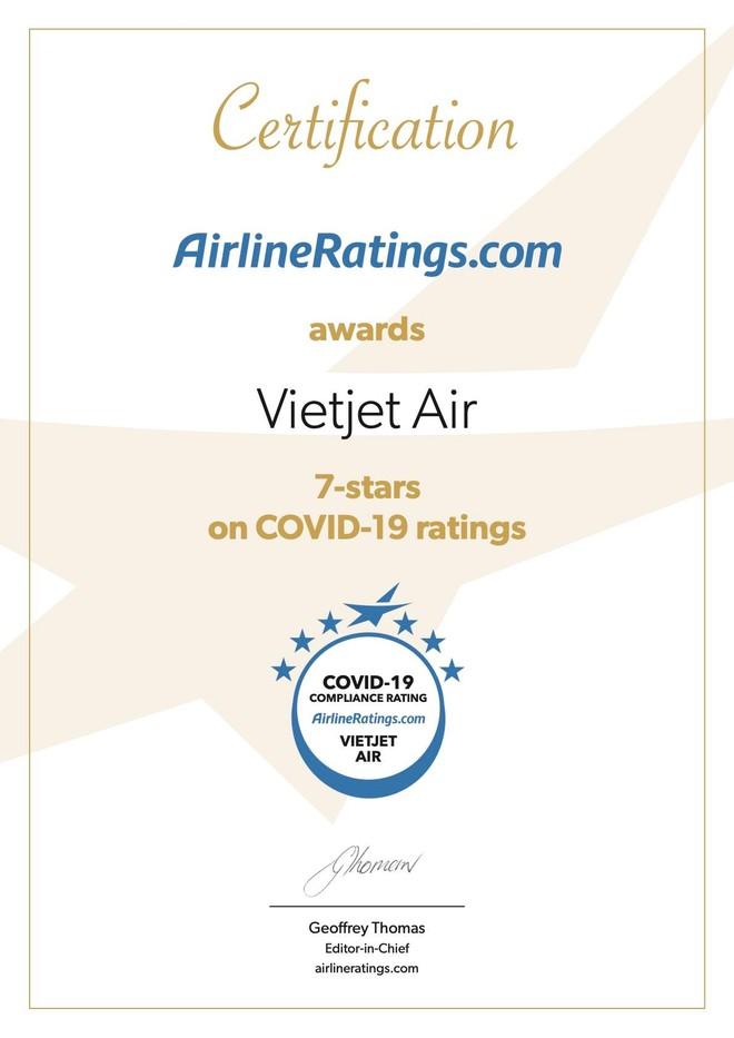 Vietjet nằm trong số các hãng hàng không phòng chống dịch tốt nhất thế giới ảnh 1