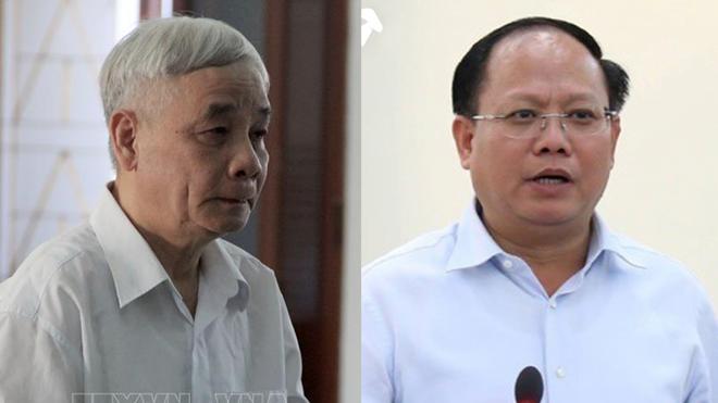 Ông Lê Văn Phước và ông Tất Thành Cang. (Từ trái qua phải).