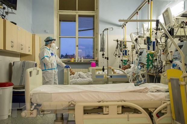 Chăm sóc bệnh nhân COVID-19 tại Praha, Séc. (Ảnh: AFP/TTXVN).