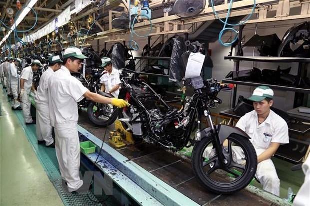 Công nhân nhà máy Honda Việt Nam. (Ảnh: Đại Nghĩa/TTXVN).