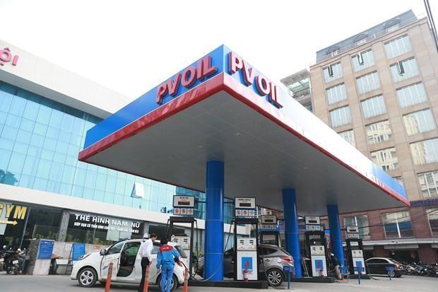 Một điểm bán xăng của PVOil. (Ảnh: Đức Duy/Vietnam+).