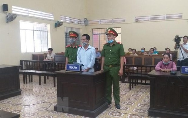Bị cáo Phạm Văn Chính bị Tòa án Nhân dân tỉnh Cà Mau tuyên phạt 8 năm tù giam. (Ảnh: Huỳnh Anh/TTXVN).