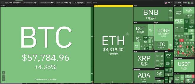 Giá Bitcoin hôm nay ngày 12/5: Bitcoin hồi phục trở lại, Ethereum lập đỉnh mới trên 4.300 USD, thời của các đồng tiền meme con chó lên ngôi ảnh 1