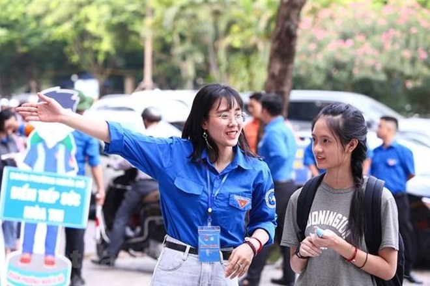 Học sinh Hà Nội thi vào lớp 10. (Ảnh: PV/Vietnam+).