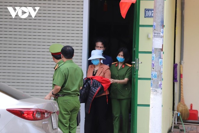 Bà Nguyễn Thị Kim An, cựu Giám đốc Sở y tế tỉnh khi bị bắt.