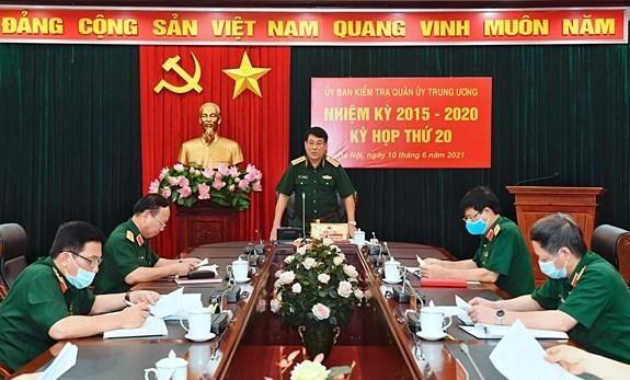 Đại tướng Lương Cường chủ trì kỳ họp lần thứ 20, Ủy ban Kiểm tra Quân ủy Trung ương nhiệm kỳ 2015-2020. (Nguồn: baochinhphu.vn).