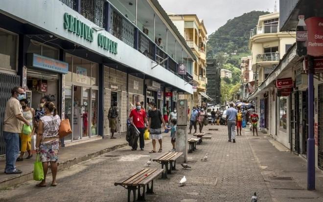 Thủ đô của đảo quốc Seychelles thời Covid-19. Ảnh: AP.