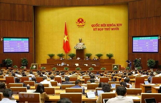 Quốc hội biểu quyết thông qua Luật Cư trú sửa đổi. (Ảnh: Doãn Tấn/TTXVN).