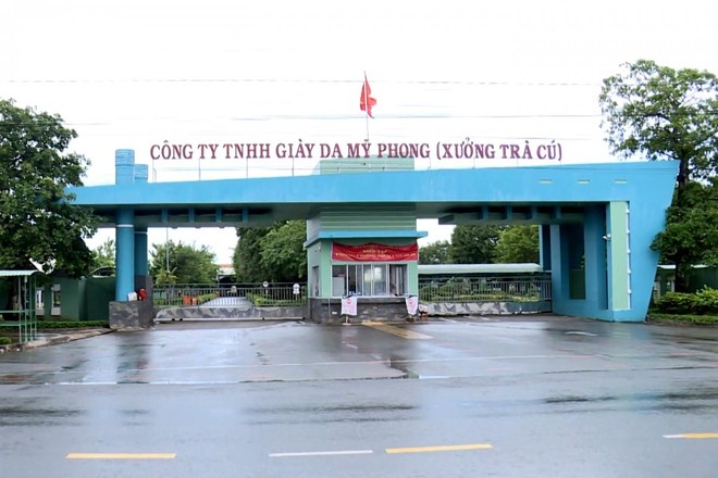 Công ty TNHH Giầy da Mỹ Phong, chi nhánh Trà Cú, nơi ghi nhận ca dương tính nhiều nhất Trà Vinh.