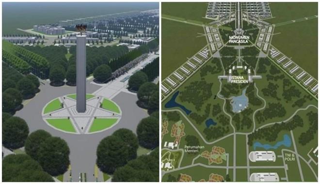 Thiết kế khu vực trung tâm thủ đô mới của Indonesia. Nguồn: Boombastis.