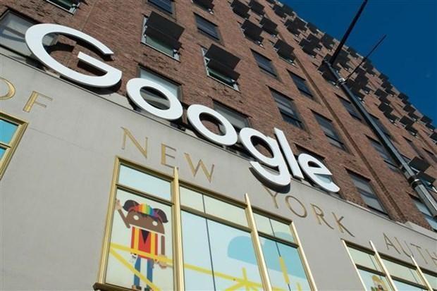 Biểu tượng của Google tại New York (Mỹ). (Ảnh: AFP/ TTXVN).