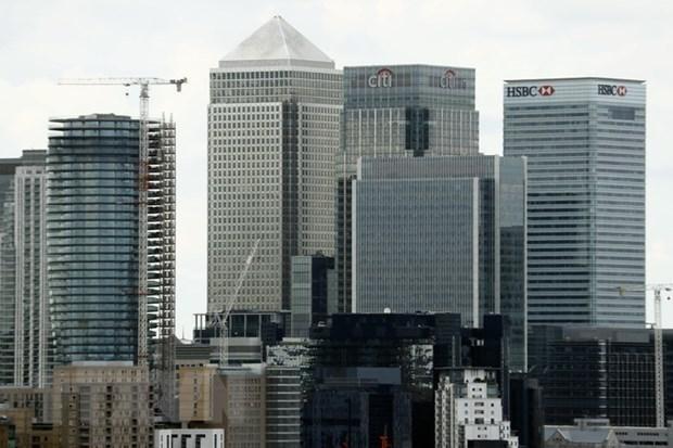 Một góc trung tâm tài chính London. (Ảnh: AFP/TTXVN).