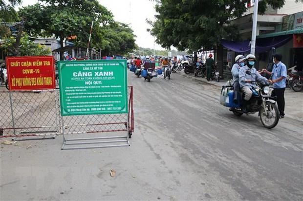 Mô hình 'Cảng xanh' an toàn, không có dịch được thiết lập tại cảng cá Mỹ Tân (xã Thanh Hải, huyện Ninh Hải). (Ảnh: Nguyễn Thành/TTXVN).