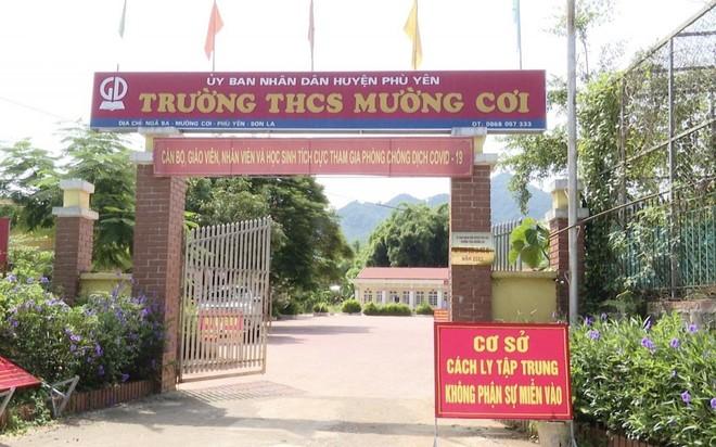 Thời gian qua, hầu hết các trường học trên địa bàn Phù Yên đều được trưng dụng làm khu cách ly tập trung.