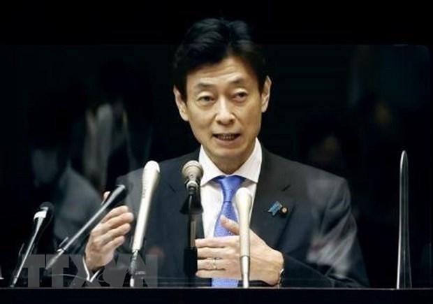 Bộ trưởng phụ trách đàm phán CPTPP của Nhật Bản Yasutoshi Nishimura. (Ảnh: Kyodo/TTXVN)