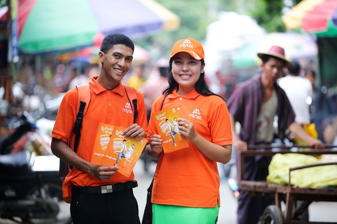 Mytel là thương hiệu của Viettel tại Myanmar được người dân đón nhận.