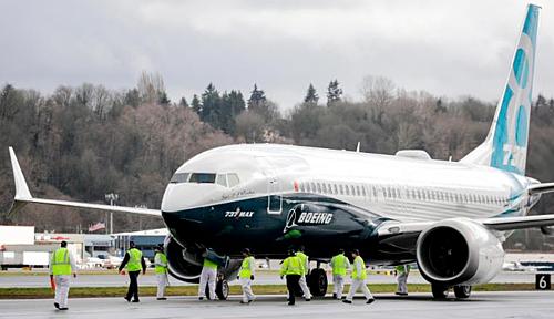 Một chiếc 737 MAX 8 của hãng sản xuất máy bay Mỹ - Boeing. Ảnh:AFP