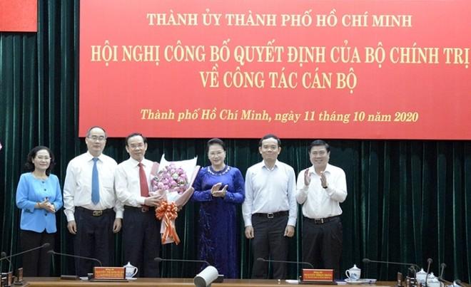 Giới thiệu ông Nguyễn Văn Nên để bầu giữ chức Bí thư Thành ủy TP.HCM ảnh 1