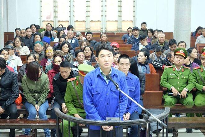 Bị cáo Saga tại phiên tòa sơ thẩm.