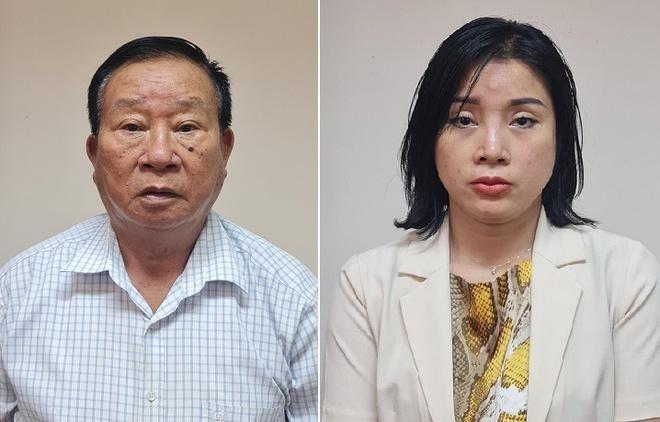 Hai bị can Phạm Huy Lập và Phạm Thị Kim Oanh. Ảnh: Bộ Công an.