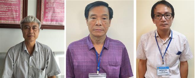 Các đối tượng Phạm Dũng, Cấn Hồng Lai, Lê Văn Long (từ trái qua phải).