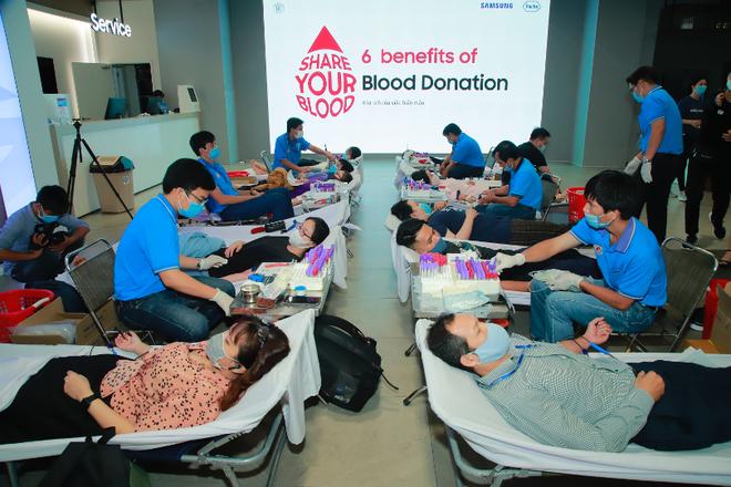 """Roche Việt Nam và Samsung Vina đồng hành tổ chức chương trình """"Hiến máu, cứu người"""""""