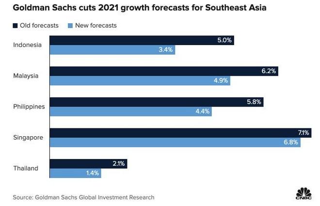 Goldman Sachs: Biến thể delta có thể tác động đáng kể đến tăng trưởng ở Đông Nam Á ảnh 1