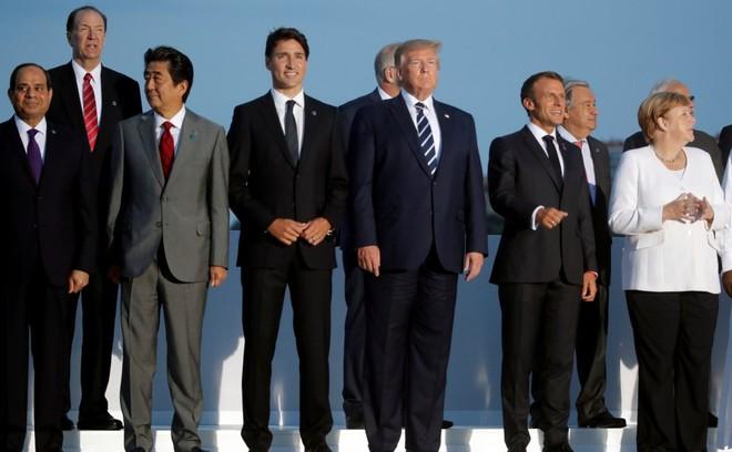 Các nhà lãnh đạo G7 và những vị khách được mời khác tại Hội nghị thượng đỉnh G7 đang diễn ra tại Pháp. Ảnh: Reuters