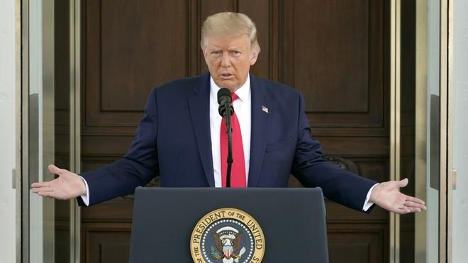 Tổng thống Mỹ Donald Trump tại Nhà Trắng hôm 7/8. Ảnh: AP.