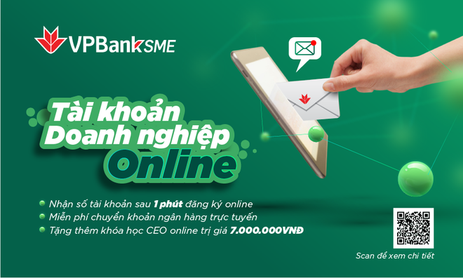 Mở tài khoản SME online chỉ trong 1 phút tại VPBank