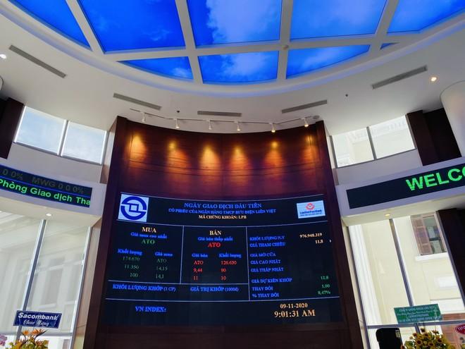 Cổ phiếu LPB tăng giá gần 5% trong phiên chào sàn, thanh khoản đứng ở top 5 toàn thị trường