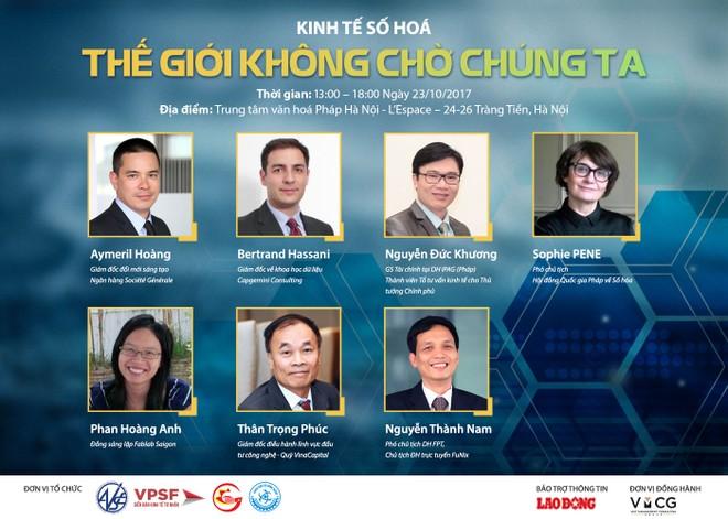 """Hội thảo """"Kinh tế số hóa - Thế giới không chờ chúng ta"""" tổ chức ngày 23/10 tại Hà Nội"""
