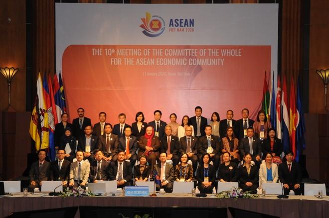 CoW 10 tập trung thảo luận 5 nội dung liên quan đến trụ cột kinh tế của ASEAN ảnh 1