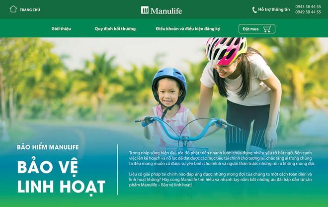 Manulife Việt Nam đã trình làng trang web bảo hiểm trực tuyến (e-commerce) sau gần 1 năm xây dựng