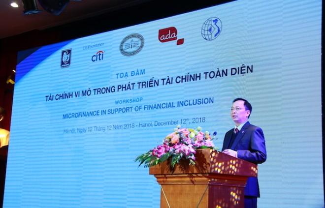"""Phó Thống đốc Đào Minh Tú: Năm 2019 sẽ là """"năm tài chính vi mô"""""""