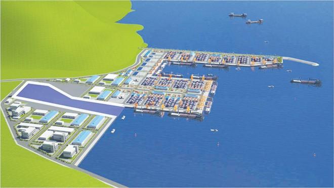 Phối cảnh dự án Cảng Liên Chiểu.
