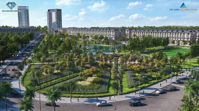Tiện ích nội khu xanh ngát cũng là lợi thế tạo nên không gian nghỉ dưỡng cho Diamond Riverside