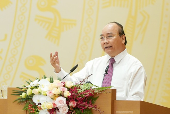 Thủ tướng Nguyễn Xuân Phúc phát biểu tại hội nghị - Ảnh: Chinhphu.vn