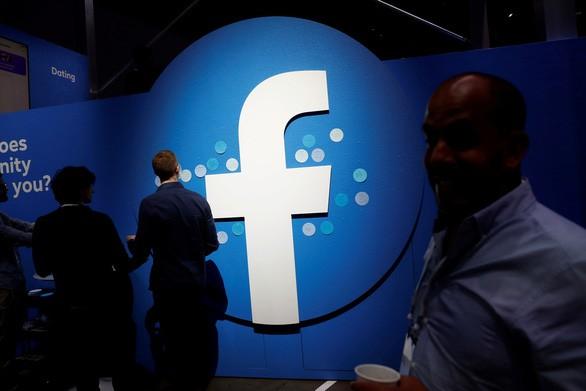 Logo Công ty Facebook tại hội nghị các nhà phát triển F8 ở San Jose, California tháng 4-2019 - Ảnh: REUTERS