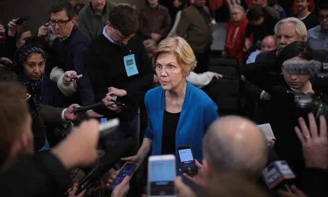 Thượng nghị sĩ Elizabeth Warren là ứng viên hàng đầu của Đảng Dân chủ. Ảnh: Getty Images.