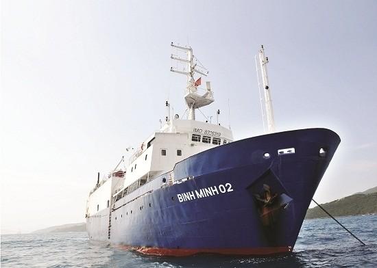 Tàu Bình Minh 02 của liên doanh PTSC-CGGV