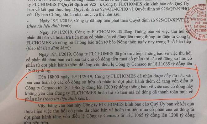 """FLCHomes đã khắc phục xong lỗi trước khi """"kết hôn"""" của Cemaco ảnh 1"""