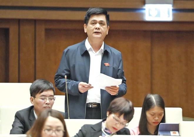 Đại biểu Nguyễn Lâm Thành (Lạng Sơn) phát biểu tại nghị trường Quốc hội chiều 20/11. Ảnh: Ngọc Thắng