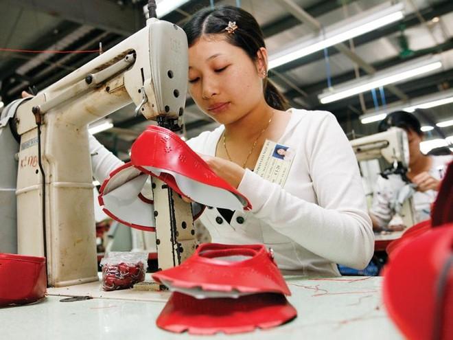 Nhiều doanh nghiệp da giày Việt Nam chưa chủ động được nguồn cung ứng da nguyên liệu. Ảnh: Đức Thanh
