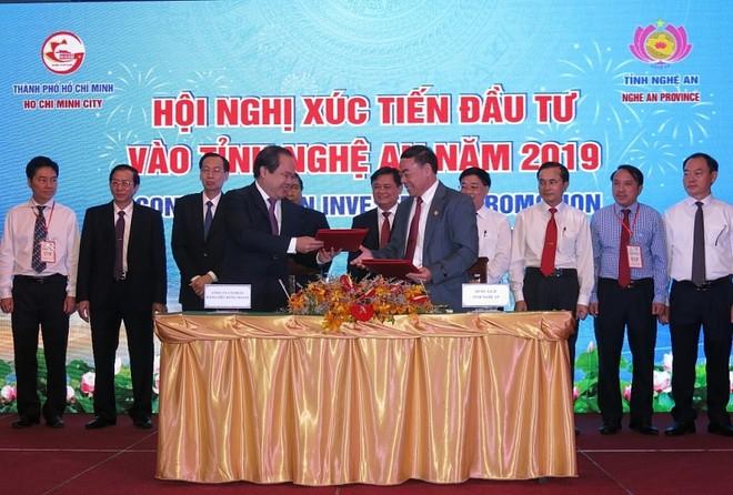 Trong một sự kiện Nghệ An xúc tiến đầu tư tại TP Hồ Chí Minh, tỉnh này kêu gọi doanh nghiệp TP. Hồ Chí Minh đầu tư vào 117 dự án trọng điểm vào Nghệ An. Ảnh minh họa