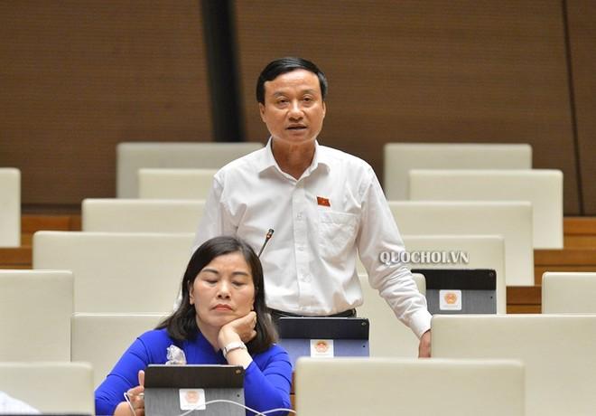Đại biểu Bùi Văn Xuyền phát biểu tại phiên thảo luận.
