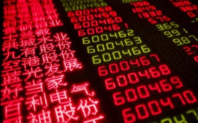 Chỉ số Hang Seng giảm 0,81% trong phiên giao dịch sáng nay 29/5. Ảnh: AFP