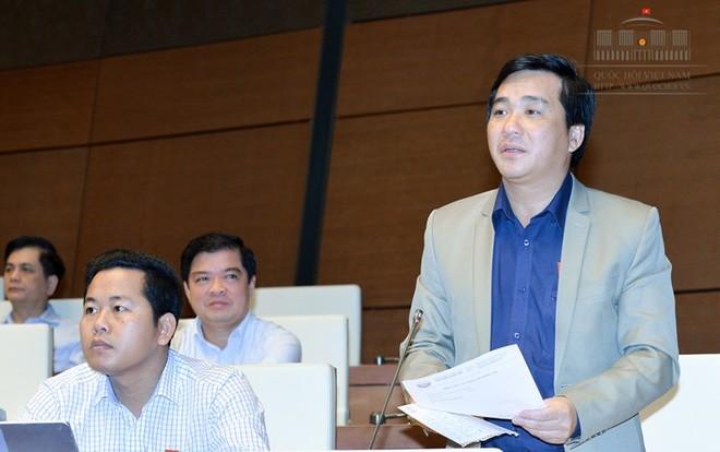 Đại biểu Dương Minh Tuấn (Bà Rịa - Vũng Tàu) tán thành bỏ quy định thông báo mẫu dấu.
