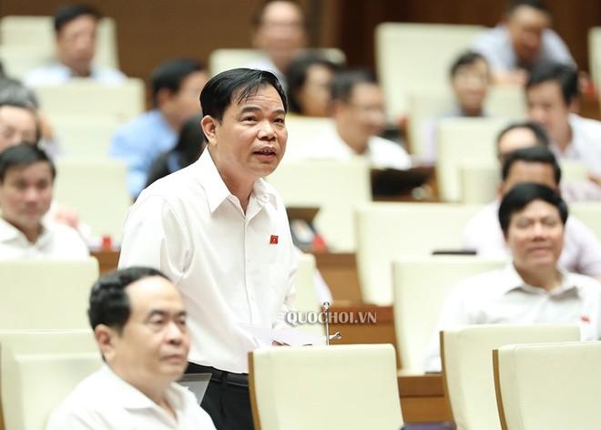 Bộ trưởng Bộ Nông nghiệp và Phát triển nông thôn Nguyễn Xuân Cường phát biểu tại nghị trường.